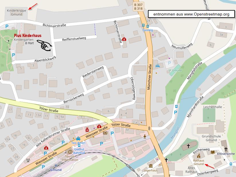 Lageplan Openstreetmap.org